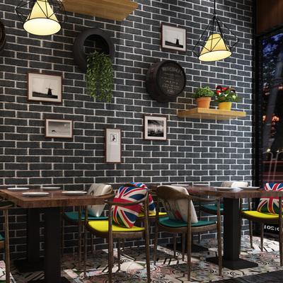 中式复古砖纹红砖青砖仿古砖头自粘墙纸3d立体砖块防水pvc墙壁纸