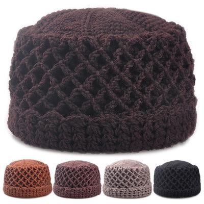 中老年人女秋冬季加厚纯手工针织冬天毛线帽婆帽奶奶保暖妈妈帽子