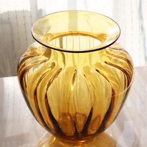 光影艺轩欧式透明玻璃花瓶水培插花花器欧式花瓶摆件家居摆设大号