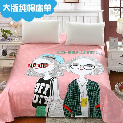 定做纯棉单件床单儿童卡通动漫大版亲子被单1.2/1.5m全棉布料