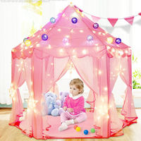 Children's indoor tent hexagonal princess castle little girl boy gift toy house household mosquito net bed artifact