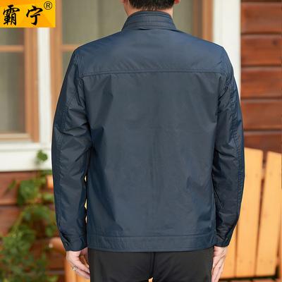 正品爸爸秋装中年父亲外套50-60-70岁左右中老年人男装拉链衫夹克