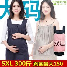 特超大碼加肥加大防輻射服200斤300斤孕婦裝吊帶懷孕期上班夏四季