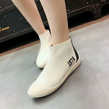 European Station 2019 New Autumn Baitie Small White Shoes, Soft-soled Flat-soled Shoes, High Uppers, Leisure Shoes, Single Shoes and Women's Shoes Tide