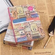 欧式复古彩页日记本精装创意手账手绘插画笔记本子学生手帐本礼品