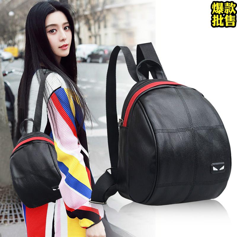 双肩包女韩版2017新款潮流百搭时尚个性怪兽小背包女休闲双肩书包