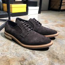New Simple Wind British Men's Shoes Turn Up Fur, Low Up Lace, Flat Head Derby Shoes Business Leisure Shoes for Men