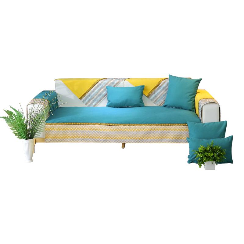 好安北欧四季布艺沙发垫子HAJ-XFN