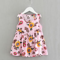 2019 spring and summer thin section cotton silk girls vest skirt air conditioning room baby home nightdress cotton silk sleeveless dress