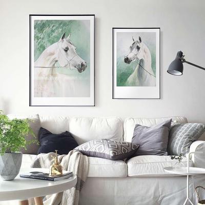 北欧风格客厅卧室装饰画 现代简约餐厅双联挂画 来自春天的马最新最全资讯