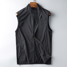 High-end honeycomb net fabric men's collar thin vest comfortable breathable speed dry collar leisure vest shoulder