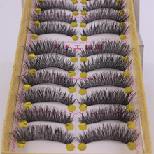 Packing cotton stalk crossing 37 Japanese germination line thick false eyelashes naturally crossing disorderly eye tail lengthening 10 pairs