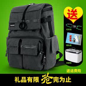 图兰双肩摄影包佳能专业单反相机包国家地理帆布包电脑包数码背包