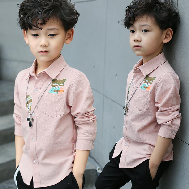 儿童长袖衬衫男童中大童
