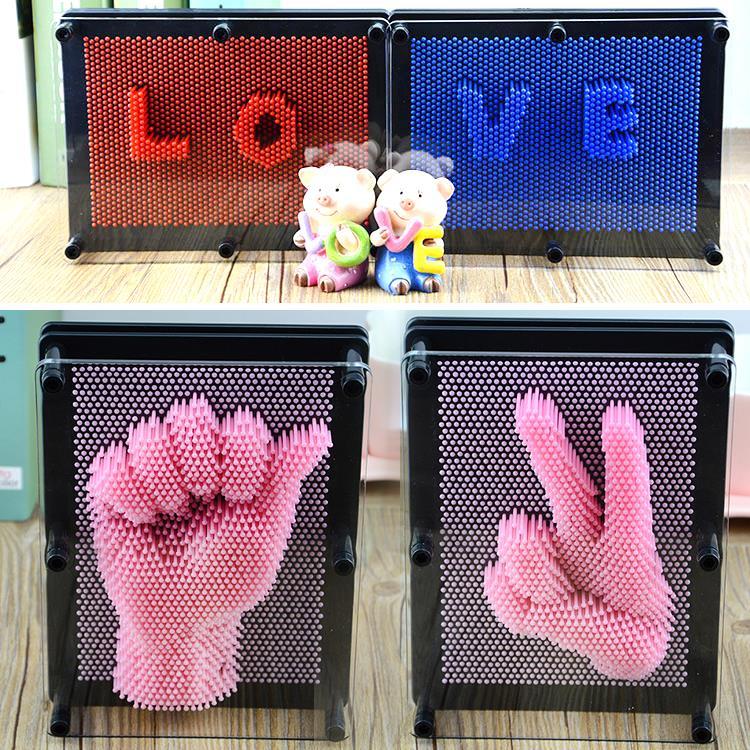 3d针画针雕克隆手膜立体手模手印儿童玩具创意小摆件