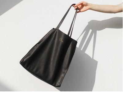 【限购2个】出口西班牙 黑色简约欧美范单肩包购物袋 手提袋 女包