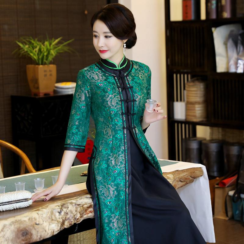 冬装旗袍裙长袖