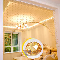 Crystal bead curtain door curtain partition curtains Living room porch bedroom bathroom home decoration European curtains free punching