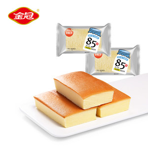金冠85醇软蛋糕早餐面包西式糕点散装