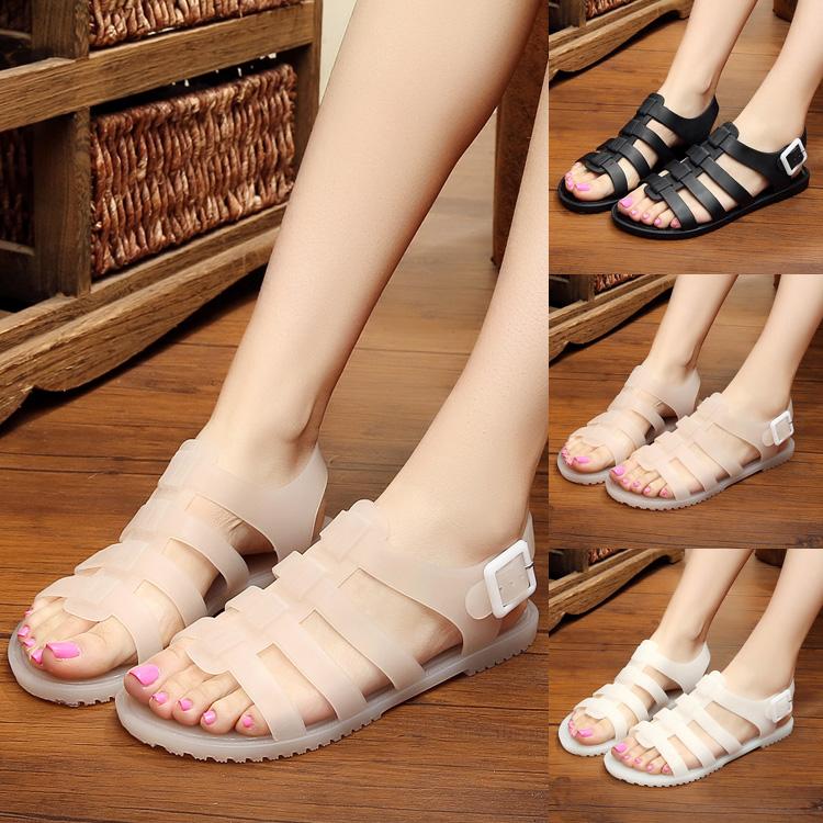 沙滩水晶果冻鞋
