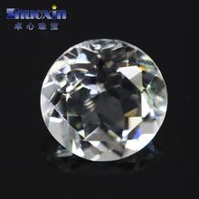 天然白黄玉白托帕石裸石宝石圆形钻戒面镶嵌DIY主石饰品配石