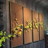 Living room decoration painting light luxury new Chinese three-dimensional flower art herald spring sofa background wall zen porch painting mural wall decoration