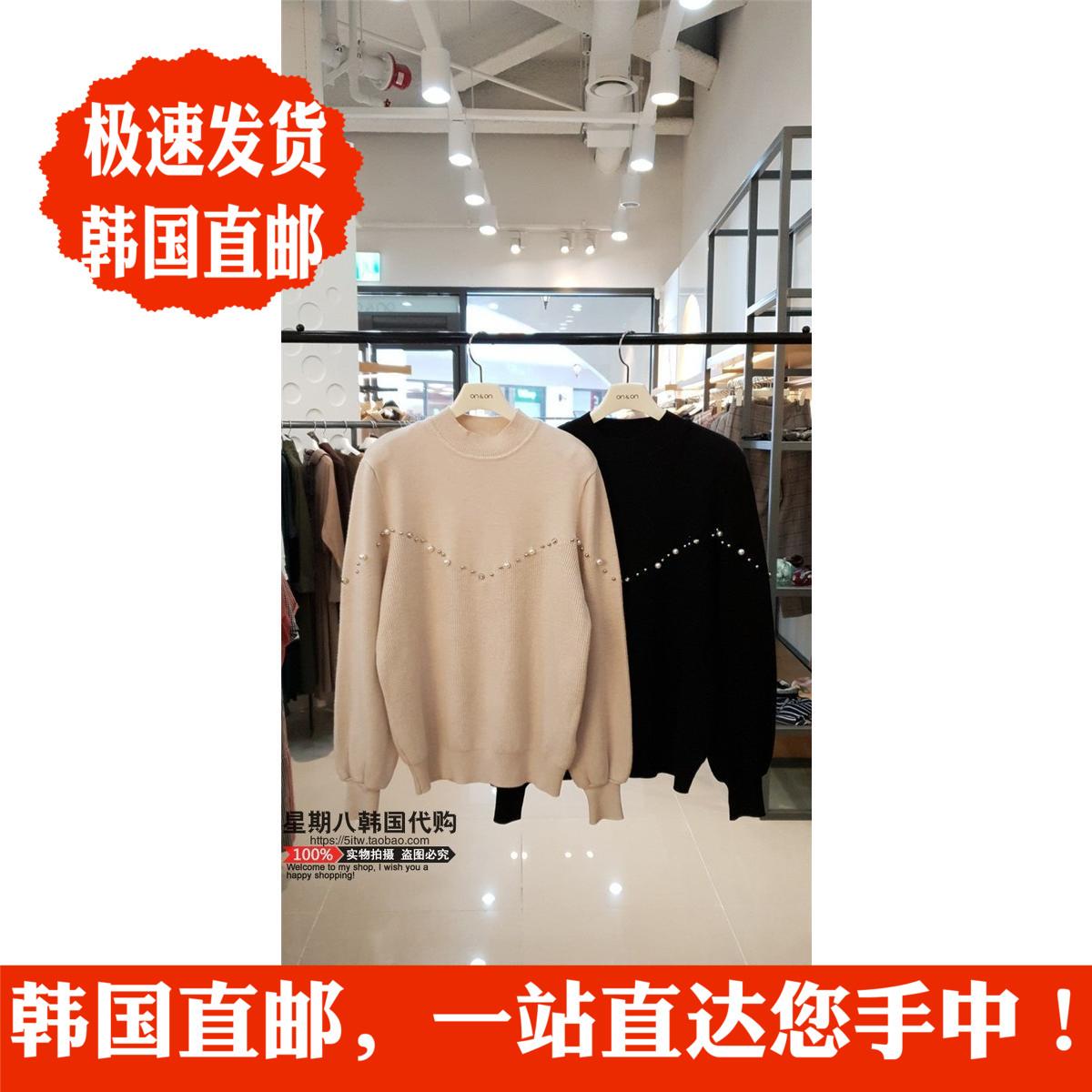 包直邮专柜视频 ON&ON韩国代购 奥莱 18冬女士针织针织衫JK8WP654