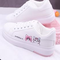 学生帆布鞋女高帮布鞋平底大童休闲鞋女孩单鞋小学生初中高中板鞋