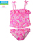 新款儿童泳衣女宝分体泳衣幼童吊带泳衣女童防晒裙式小花边童泳衣