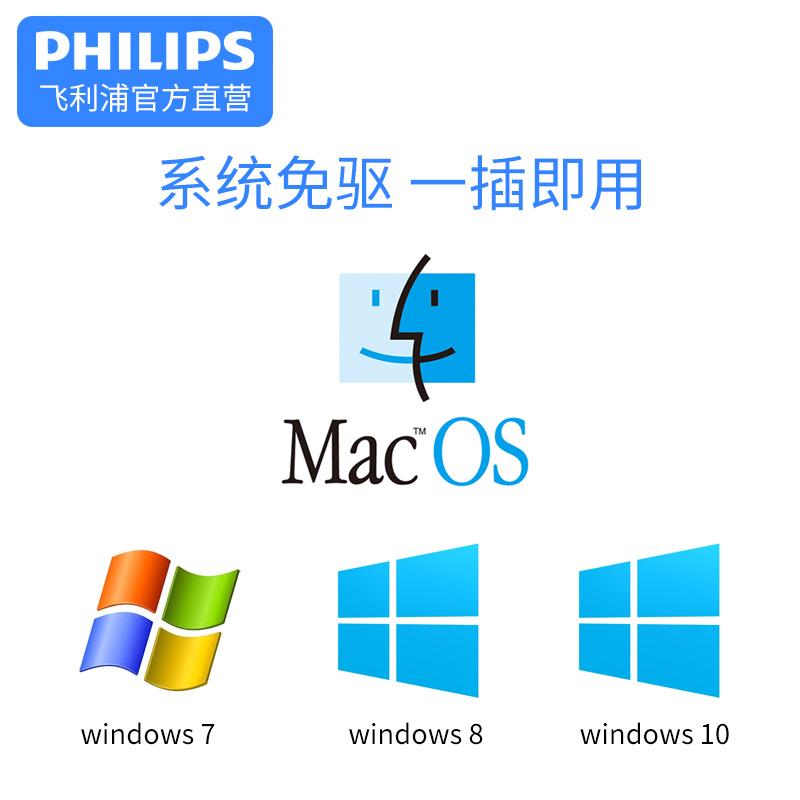 飞利浦type-c转vga转换器头typec usb-c华为苹果电脑macbook笔记本投影仪转接头惠普hp联想戴尔DELL