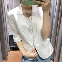 Women's Spring and Summer Dresses New Leisure Suit Jacket Occupational White Small Suit