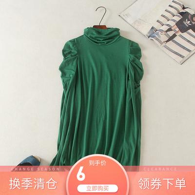 一件包邮 百家& 好 女式高领长袖打底衫纯棉上衣手感好超低价福利