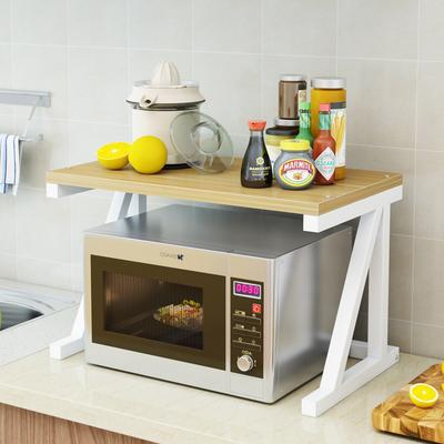 厨房置物架微波炉架子厨房用品落地式多层调味料收纳架储物烤箱架