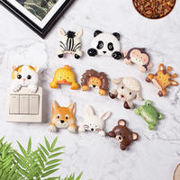 Switch stickers wall stickers home European creative wall socket decorative protective cover resin 3d stereo animal switch stickers