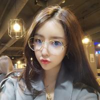 ulzzang近视眼镜框架女网红款圆脸有度数韩版潮复古原宿风素颜ins