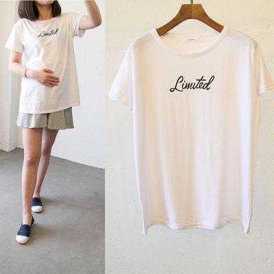 孕妇装夏装纯棉韩国简约宽松大码孕妇T恤短款白色短袖体恤上衣