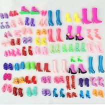 特价包邮芭比娃娃的鞋子高跟鞋公主家水晶鞋子儿童过家家玩具配件