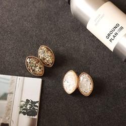 金丝雀饰品:欧美复古风极简设计高端树脂几何耳钉气质女耳环