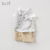davebella戴维贝拉儿童套装男童夏装套装宝宝洋气套装潮DB10508