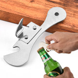 Stainless steel can opener bottle opener multifunctional mild milk can opener can opener yellow peach can opener household