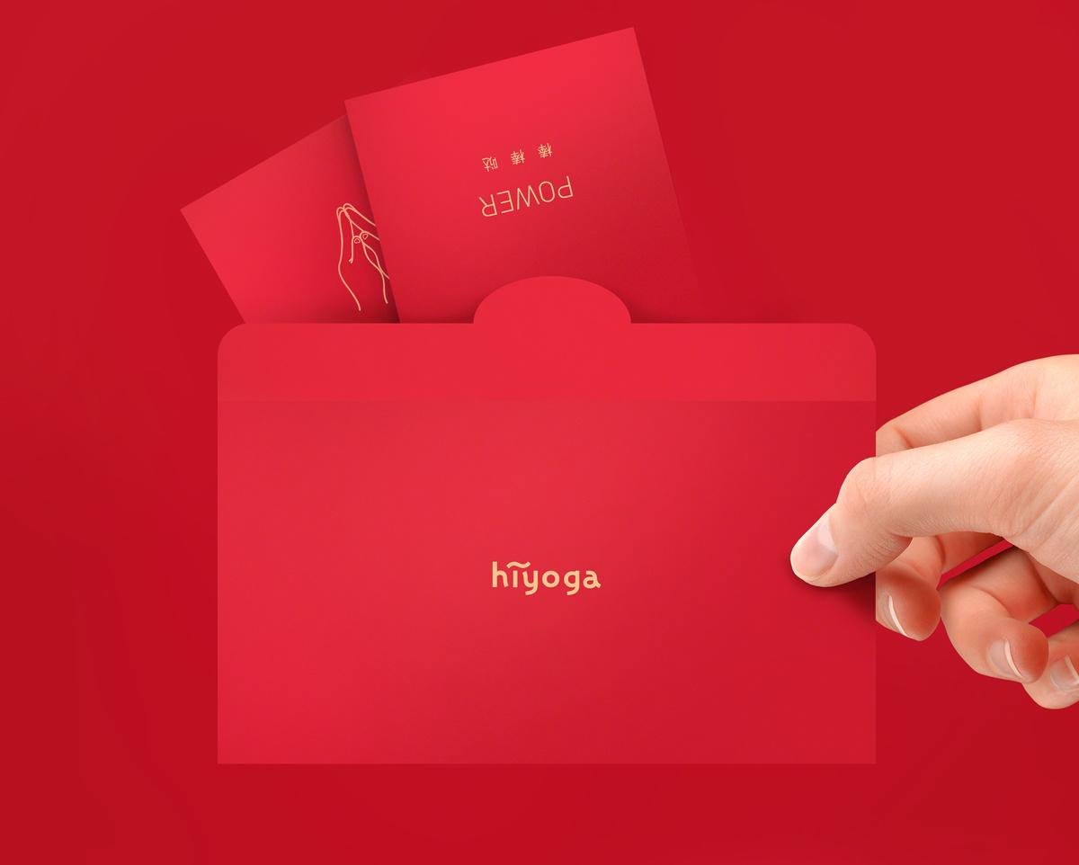 hiyoga | 瑜伽手势红包利是封 多种瑜伽手势一套9个