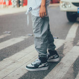Wildstyle stretch pants gray street dance bboy hiphop performance class service street card