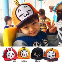 韩版儿童平檐鸭舌帽子男女宝宝嘻哈棒球太阳帽幼儿园出游帽子批发