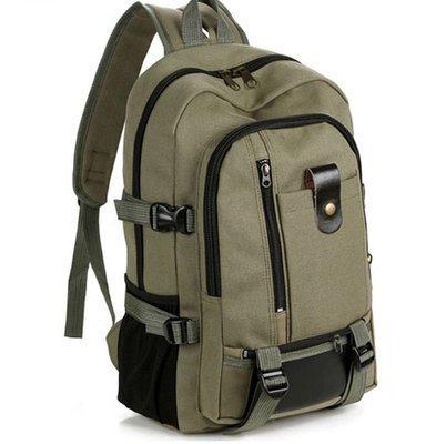 【耐磨帆布】大容量双肩包旅行背包时尚潮男女中大学生书包