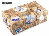 Photographed separately and not shipped!! English old newspaper nautical old map gift wrapping