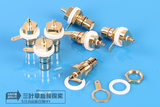 Taiwan copper plated gold high quality lotus socket RCA seat audio socket amplifier chassis terminal socket