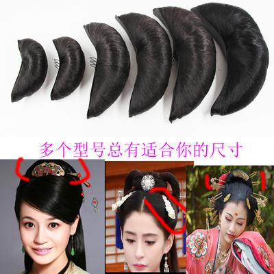 古装假发cos 小龙女发髻垫发包头饰儿童牛角万用演出古代造型仙女