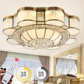 2017年新款高端品全铜灯创意花型led水晶客餐厅卧室吸顶灯具