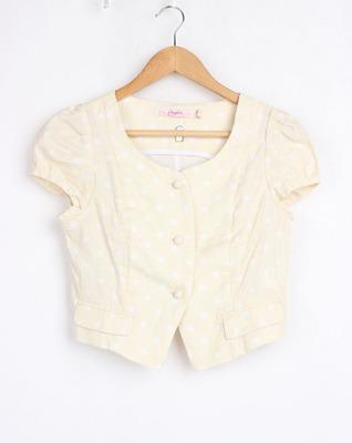 包邮32LX663库存女剪标清仓夏上新短袖圆领单排扣短款小外套