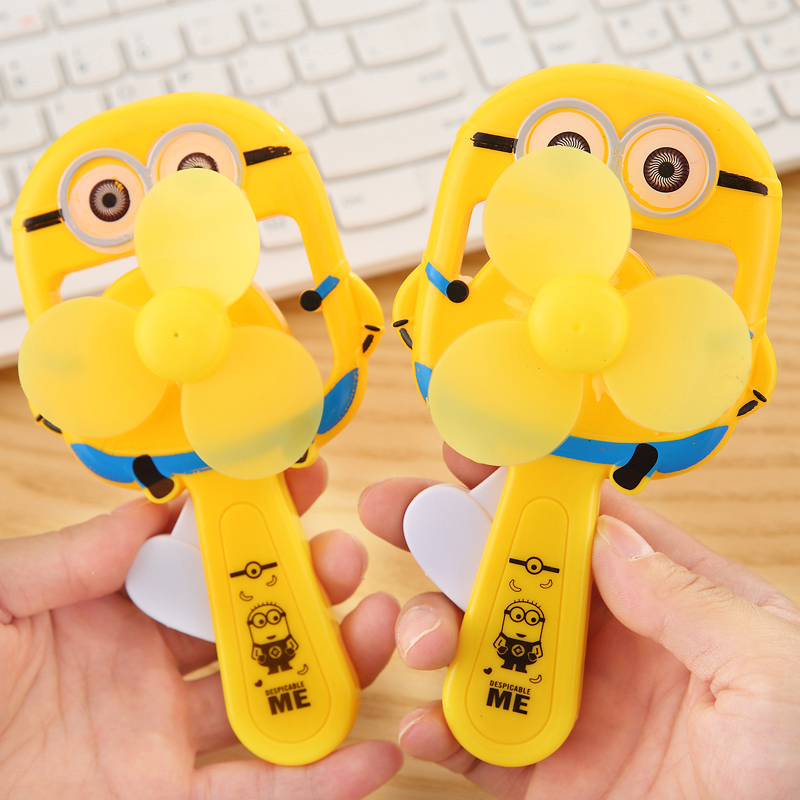 Cartoon Mini Manual Fans Pressing Hand Pushing Kindergarten Graduation Gift Ideas